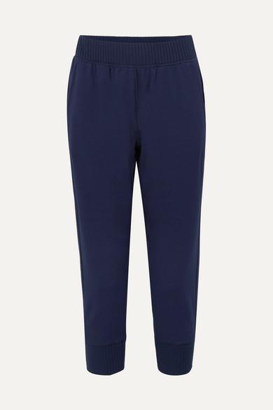 CALÉ   Calé - Josephine Stretch-jersey Track Pants - Navy   Goxip