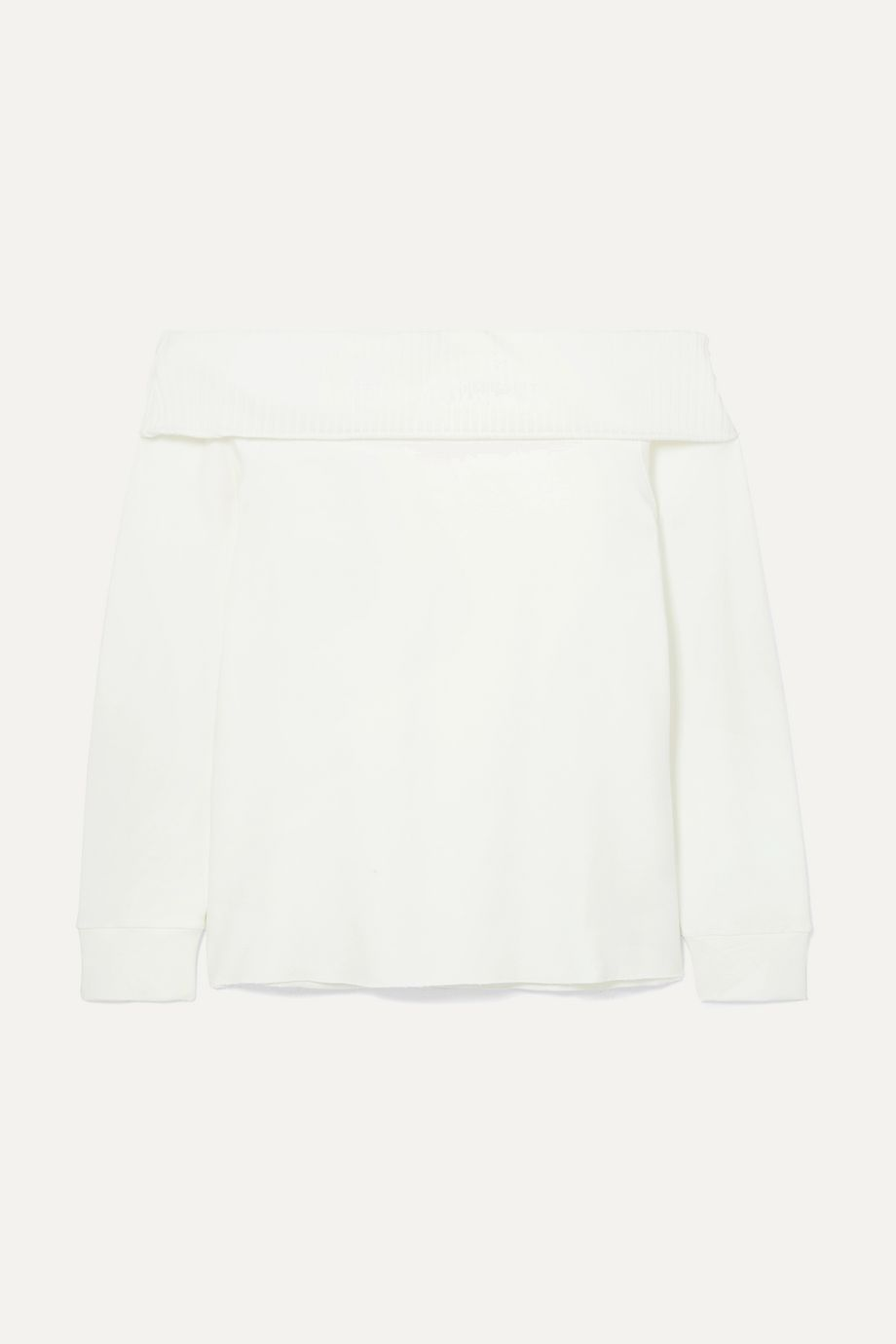 calé Giselle off-the-shoulder stretch-terry top