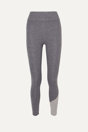 The Inversion two-tone stretch-jersey leggings