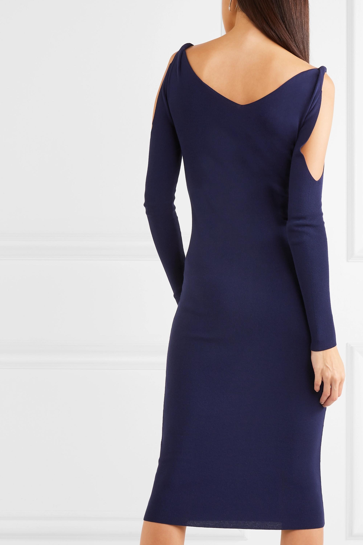Dion Lee Cold-shoulder ribbed stretch-knit dress