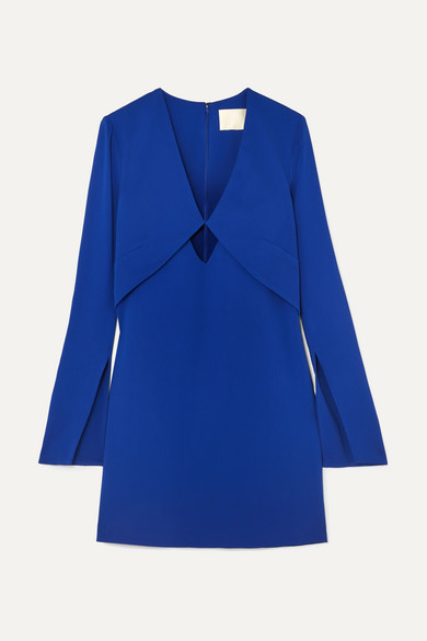 DION LEE Tessellate Cutout Cady Mini Dress in Blue