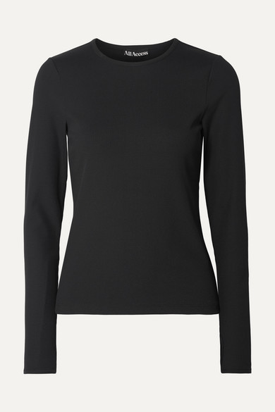 All Access SESSION RIBBED STRETCH TOP