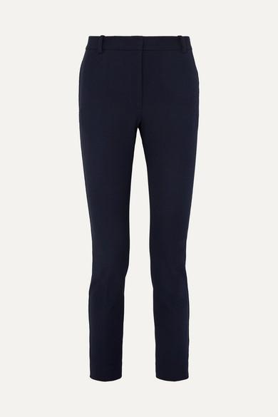 Zoom Cropped Stretch Gabardine Slim Leg Pants by Joseph