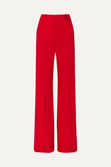 GOLDEN GOOSE DELUXE BRAND | Golden Goose Deluxe Brand - Carrie Drill Wide-leg Pants - Red | Goxip