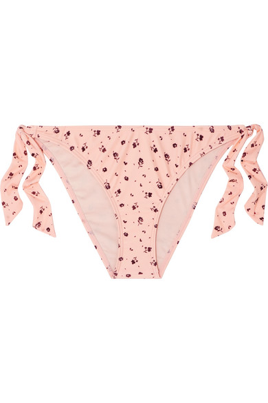 Peony Culotte De Bikini À Imprimé Fleuri