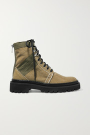 Ranger canvas ankle boots