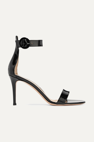 Gianvito Rossi Sandals Portofino 85  Patent Leather Black