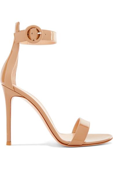 Gianvito Rossi Sandals Portofino 105 patent-leather sandals