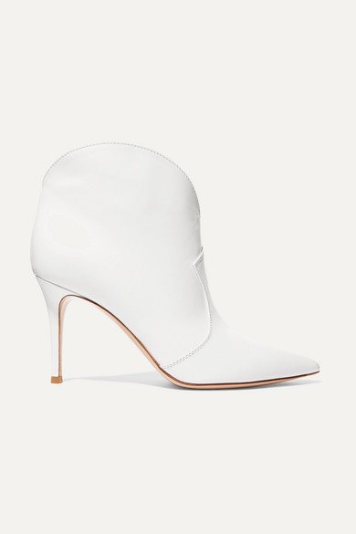 Mable 85 Leather Ankle Boots by Gianvito Rossi