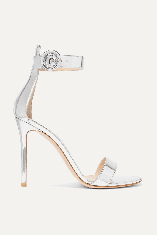Gianvito Rossi Portofino 105 metallic leather sandals
