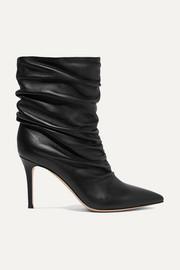 Gianvito Rossi Cecile 85 ruched leather ankle boots