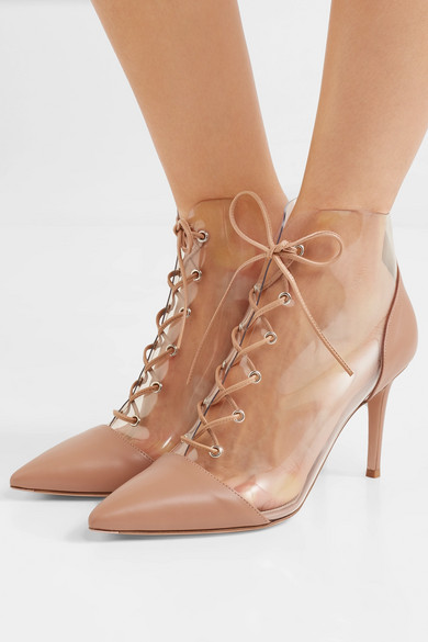 Gianvito Rossi Boots 85 leather and PVC ankle boots