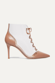 Gianvito Rossi Leather and PVC ankle boots