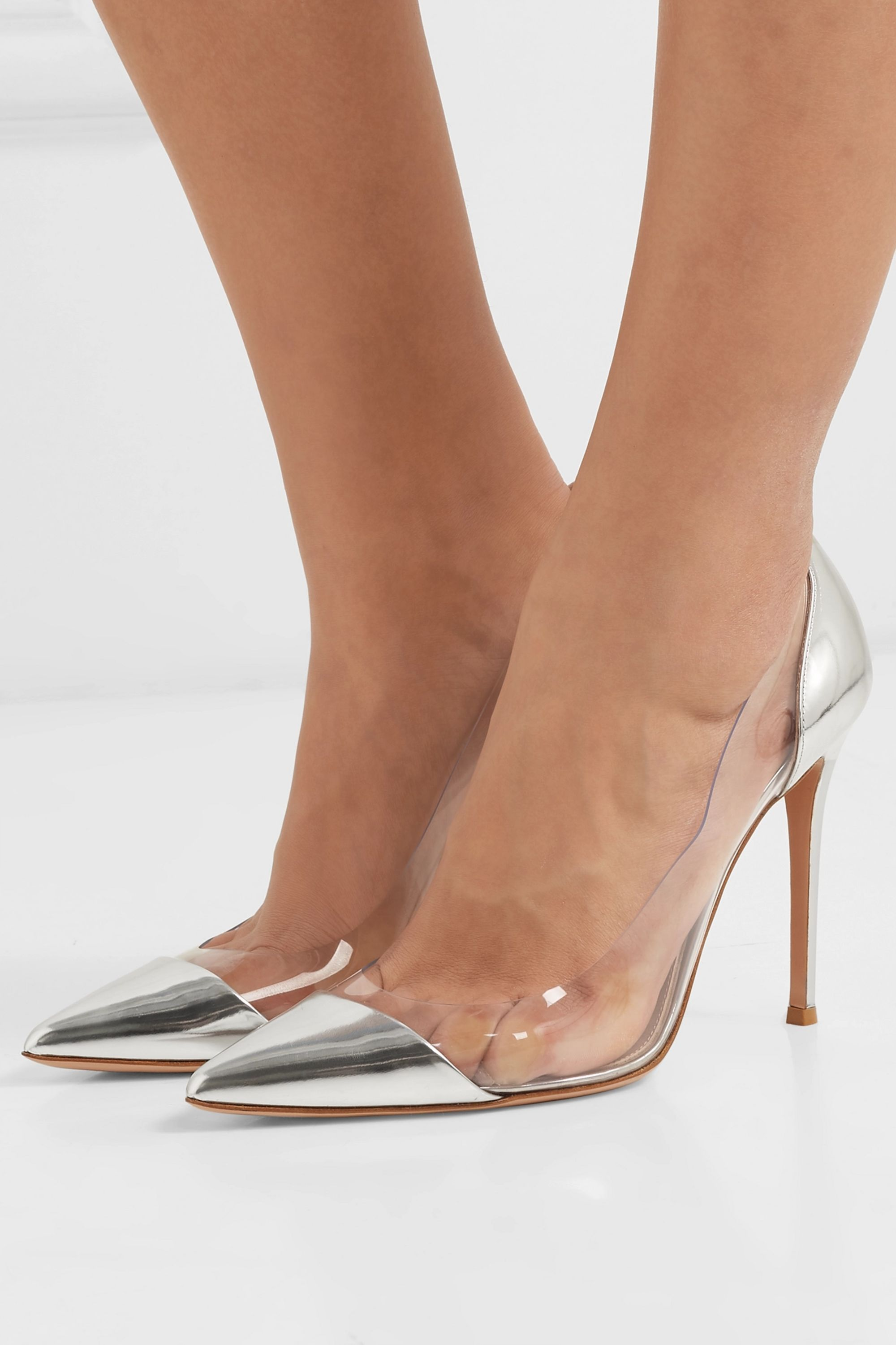 Silver Plexi 105 patent-leather and PVC