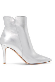 Levy 85 metallic leather ankle boots
