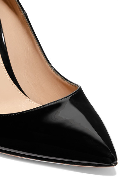 Gianvito Rossi Pumps Ellipsis 115 patent-leather pumps