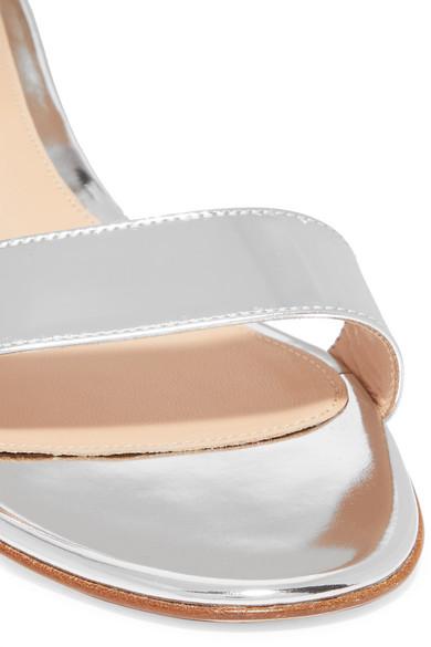 Gianvito Rossi Sandals Versilia 20 metallic leather sandals