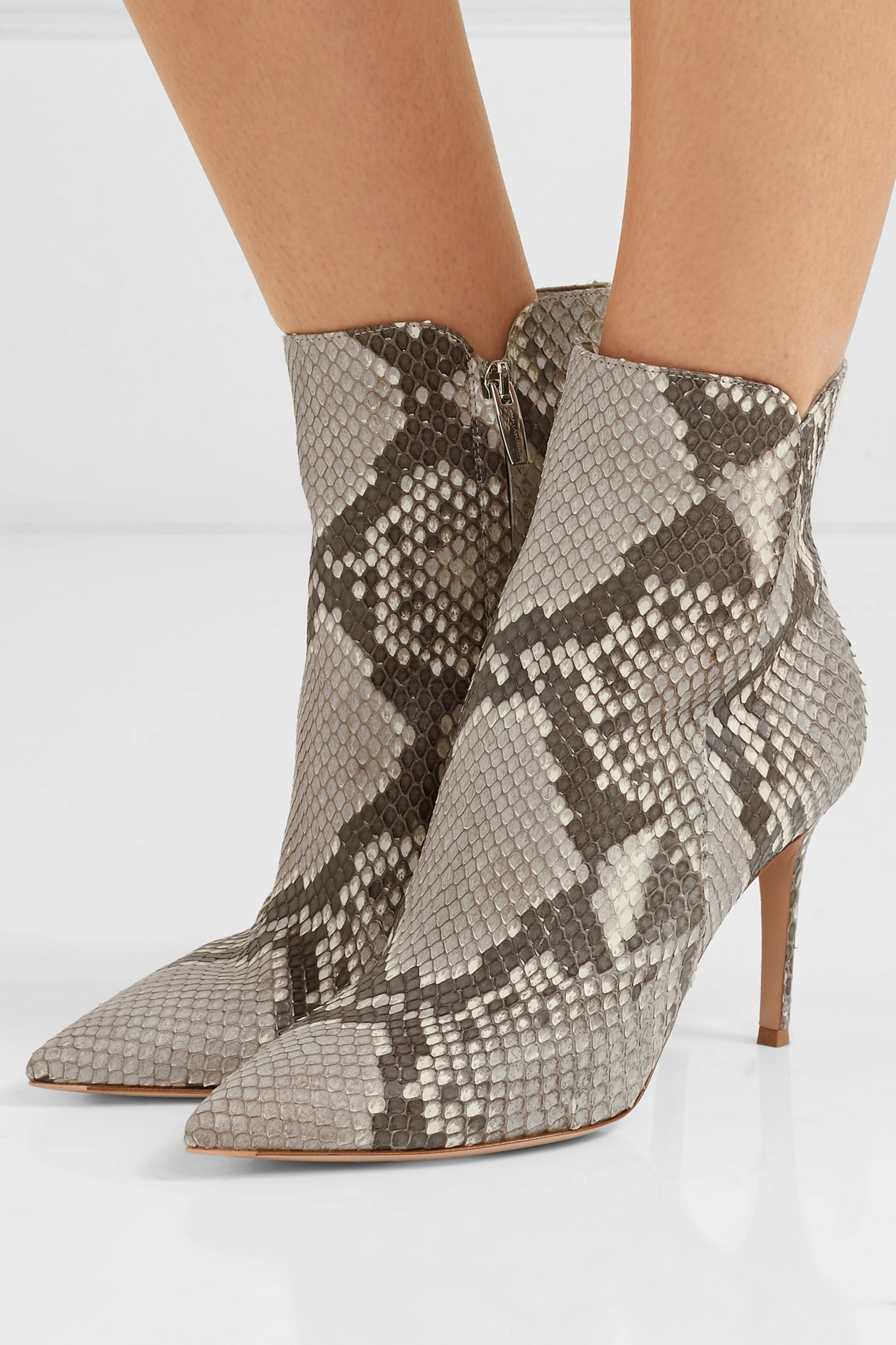 Snake print Levy 85 python ankle boots
