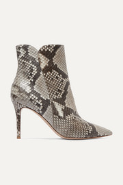 Levy 85 python ankle boots