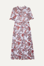 See By Chloé Ruffled floral-print stretch-gauze dress