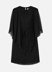 See By Chloé Cape-effect ruffled georgette mini dress