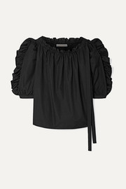 See By Chloé Ruffled cotton-poplin top