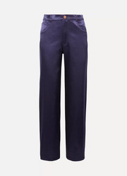 See By Chloé Cotton-blend satin pants