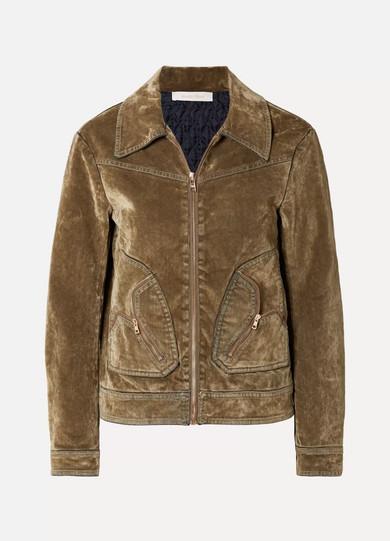 884b7055 See By Chloé | Cotton-blend velvet bomber jacket | NET-A-PORTER.COM