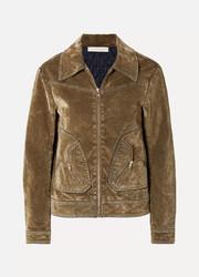 31b932c96 See By Chloé - Cotton-blend velvet bomber jacket