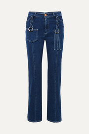 See By Chloé Braided high-rise straight-leg jeans