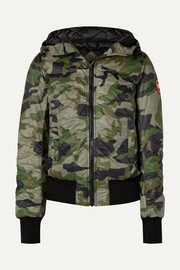 Dore camouflage-print hooded shell down jacket