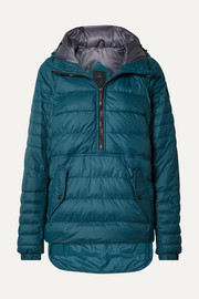 Cornelia hooded quilted shell down jacket
