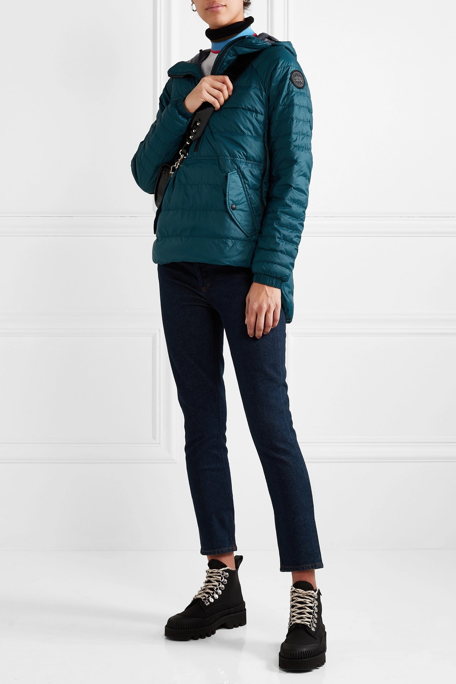 Canada Goose Cornelia hooded quilted shell down jacket