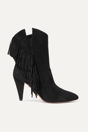 Wild Fringe 90 fringed suede ankle boots