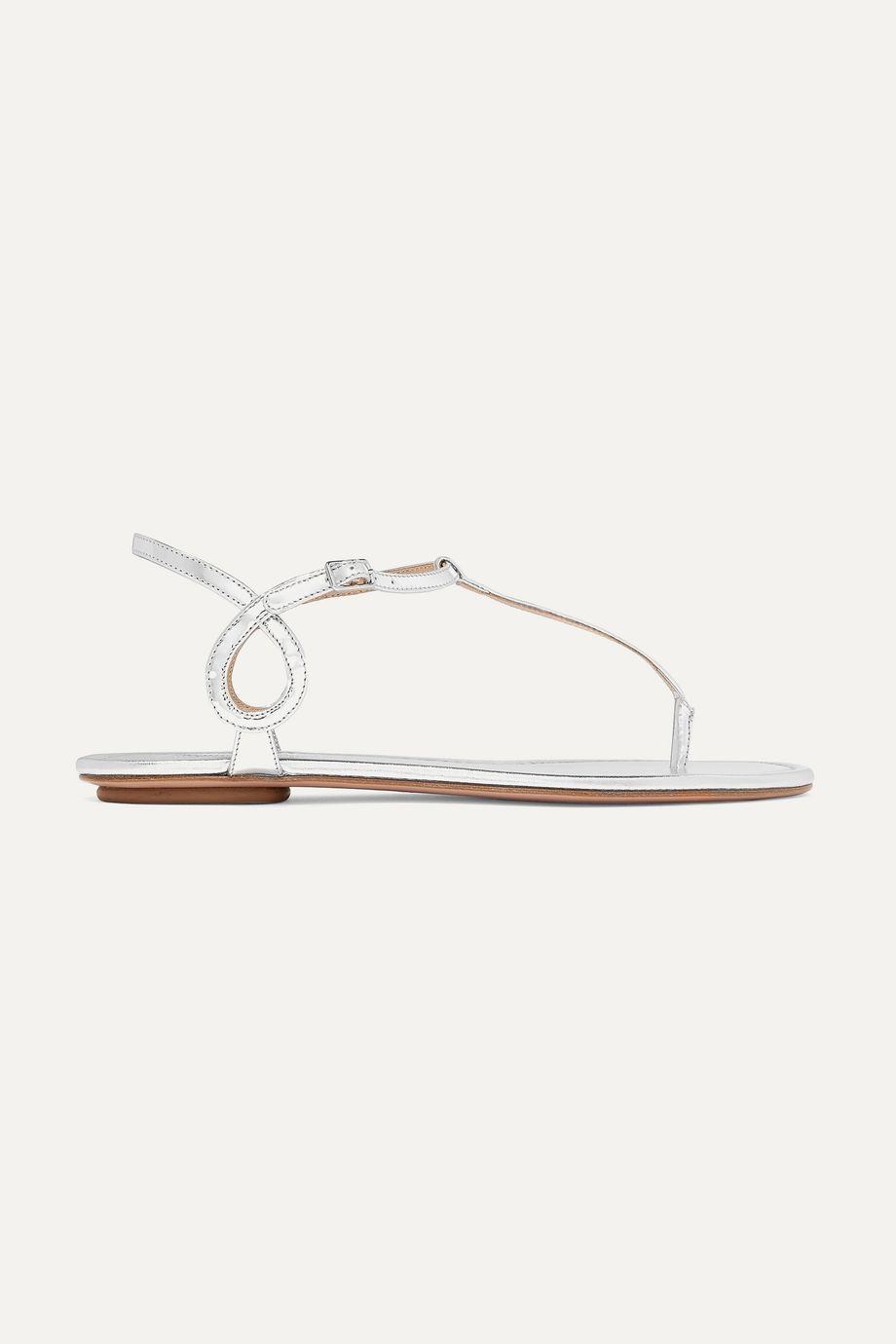 Aquazzura Almost Bare metallic leather sandals