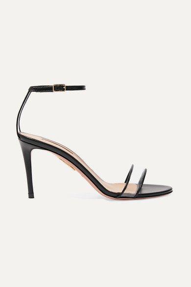 Minimalist 85 Leather And Pvc Sandals in Black