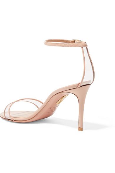 Aquazzura Sandals Minimalist 85 patent-leather and PVC sandals
