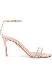 Minimalist 85 patent-leather and PVC sandals