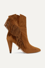 Wild Fringe 85 suede ankle boots