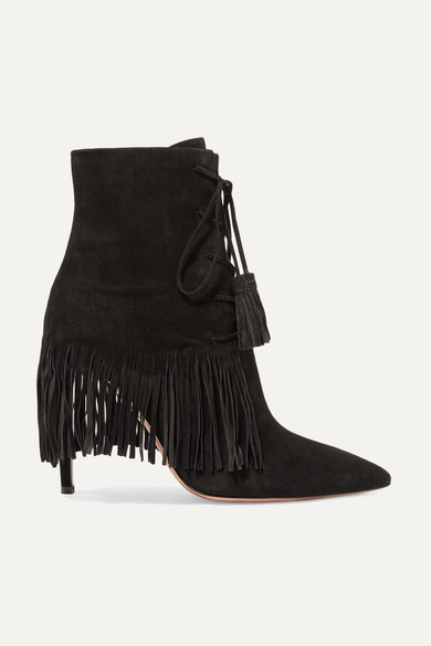 Conception innovante 4cdb1 87a64 Mustang 105 fringed suede ankle boots