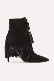 Mustang 105 fringed suede ankle boots