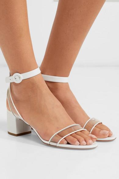 Aquazzura Sandals Minimalist 50 patent-leather and PVC sandals