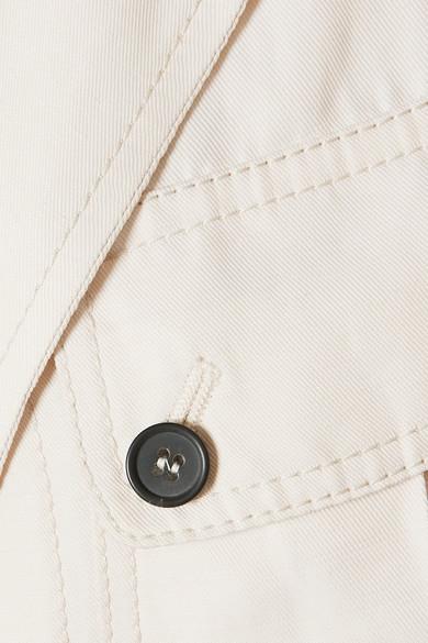 13f59906 TOM FORD | Belted leather-trimmed twill jacket | NET-A-PORTER.COM