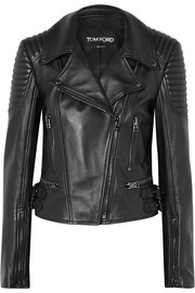TOM FORD Quilted leather biker jacket
