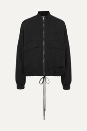 TOM FORD Washed-twill bomber jacket