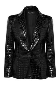 TOM FORD Croc-effect leather blazer