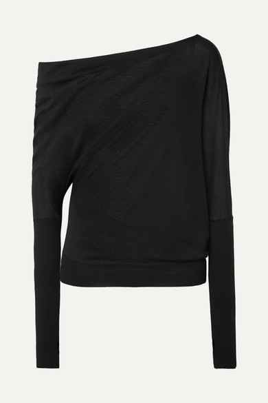 Tom Ford Knits One-shoulder cashmere and silk-blend sweater
