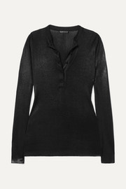 TOM FORD Coated knitted top