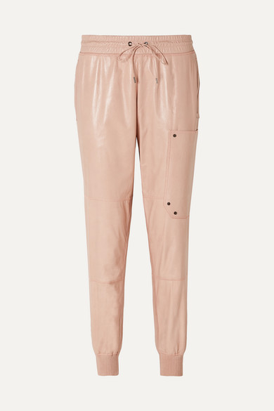 TOM FORD | TOM FORD - Paneled Leather Track Pants - Blush | Goxip
