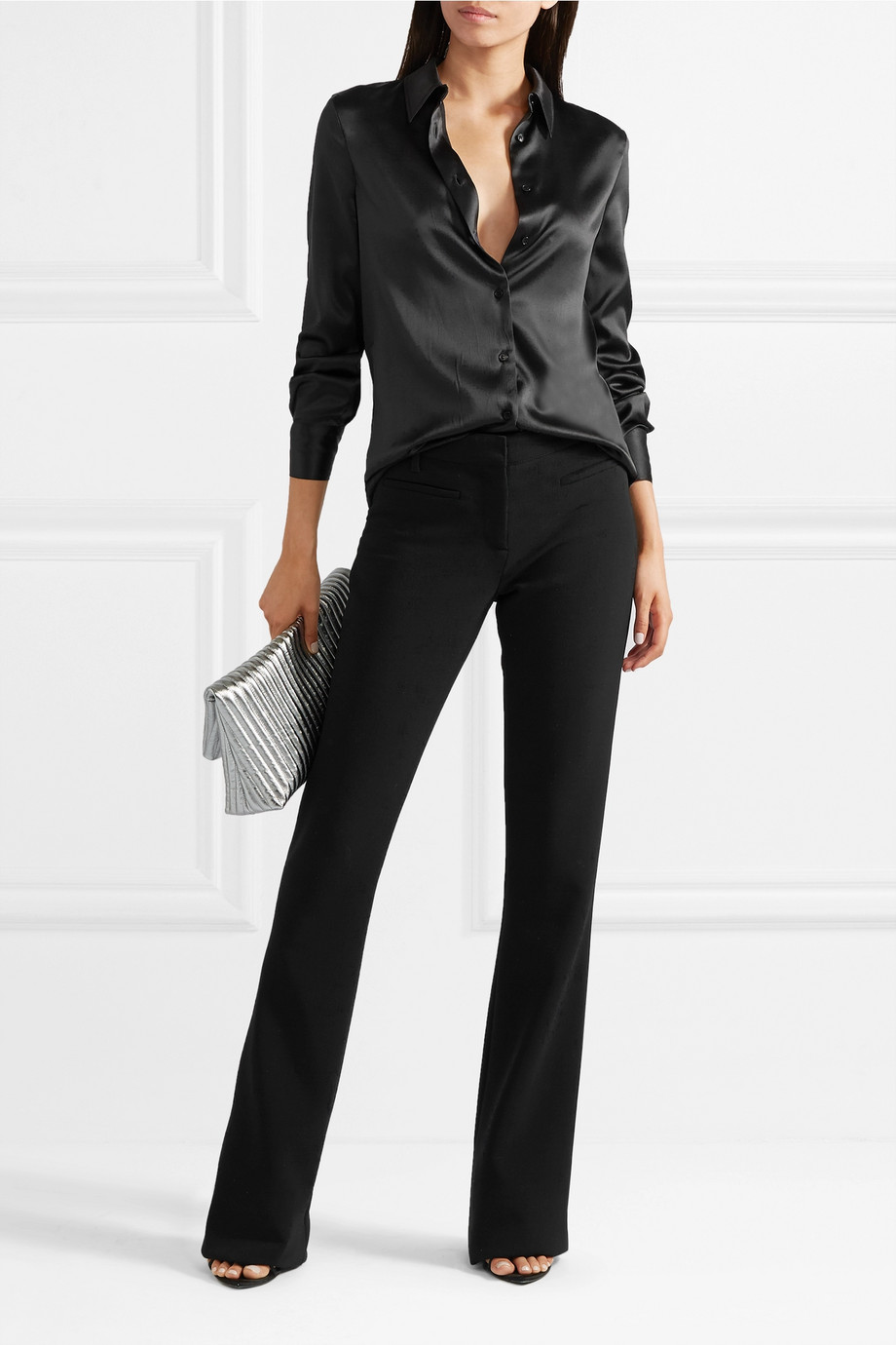 TOM FORD Wool-blend flared pants